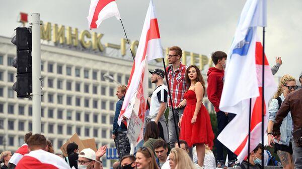 Несанкционированная акция Марш единства в Минске