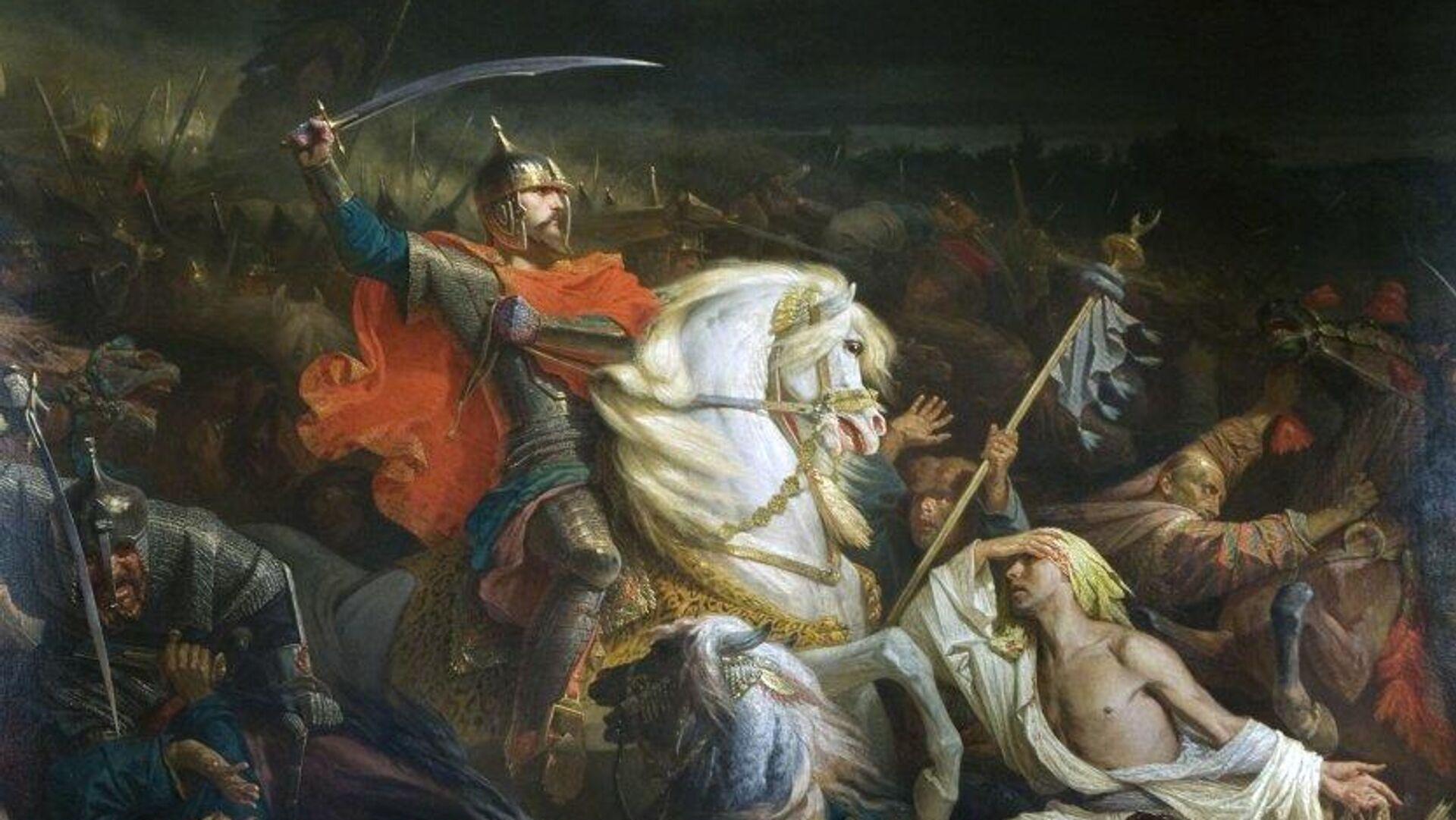 Картина Адольфа Ивона Куликовская битва. 1859 год - РИА Новости, 1920, 02.09.2021