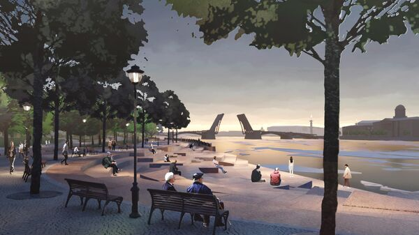Проект парка Тучков буян в Петербурге