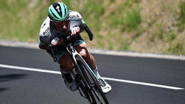 Австрийский велогонщик команды Bora-Hansgrohe Лукас Пестлбергер