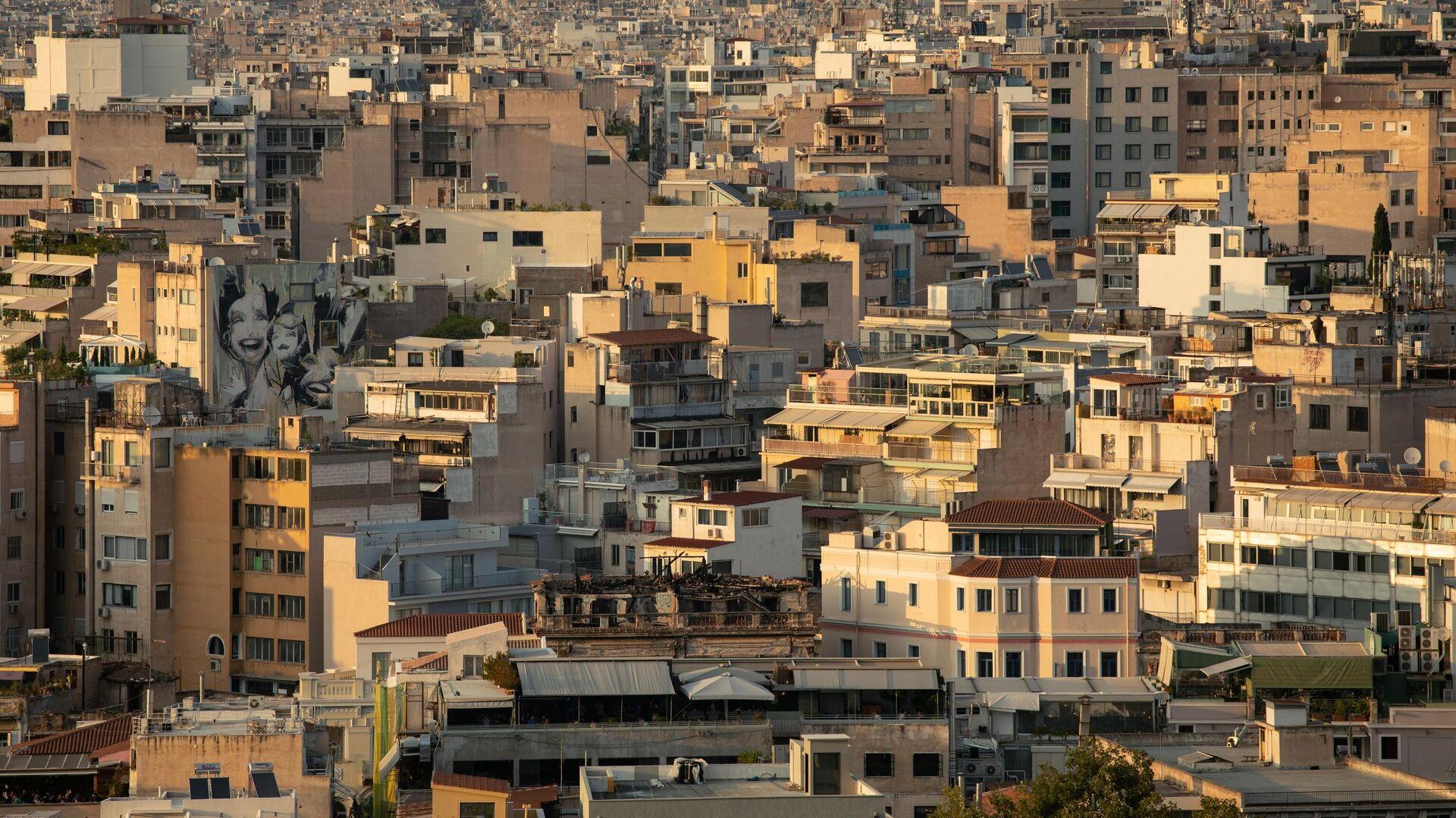 Вид на город с холма Акрополь в Афинах - РИА Новости, 1920, 02.01.2021