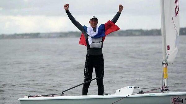 Яхтсмен Даниил Крутских (Россия)