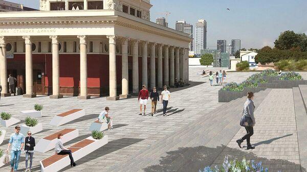 Проект благоустройства аллеи рядом со станциями метро Динамо и Петровский парк