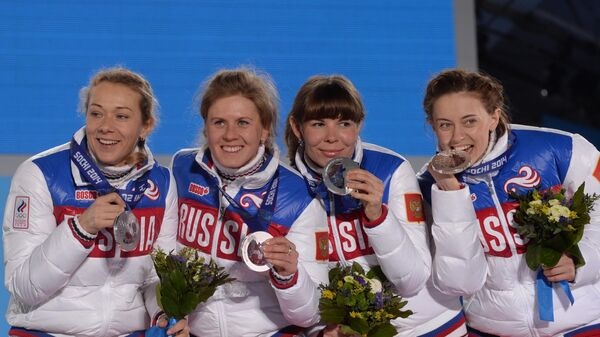 Ольга Зайцева, Яна Романова, Екатерина Шумилова и Ольга Вилухина