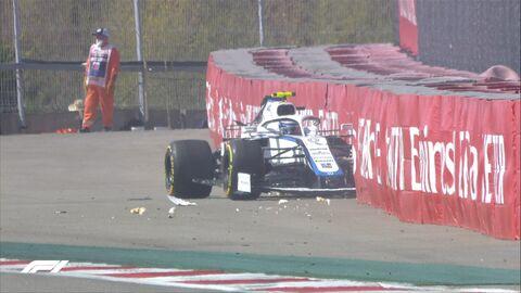 Авария на первой сессии свободных заездов Гран-при России Формулы-1