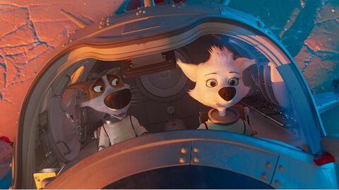 Кадр из мультфильма Белка и Стрелка. Карибская Тайна