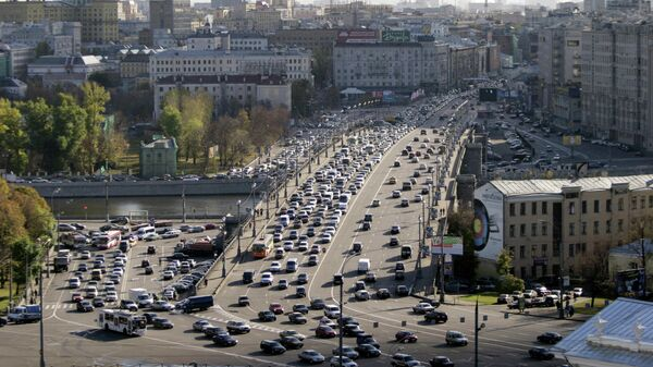 Москва с верхней точки. Вид на Большой Каменный мост с Дома Пашкова