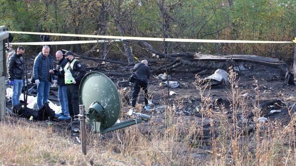 Следственные действия на месте крушения самолета Ан-26 под Харьковом