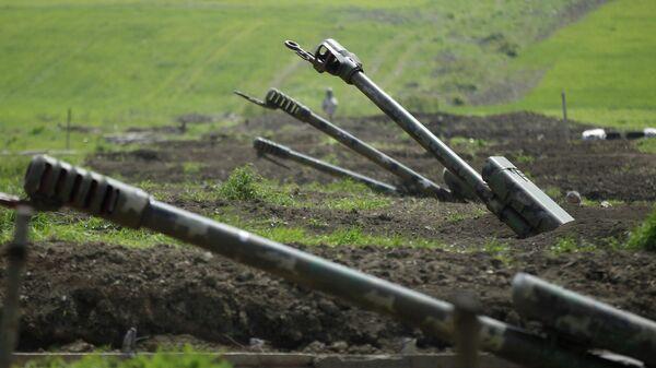 Артиллерия вооруженных сил Армении в зоне Нагорного Карабаха