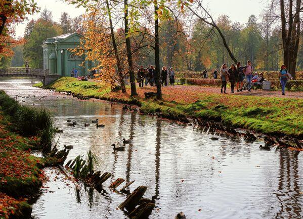 Павильон Венеры на острове Любви в Гатчинском дворцовом парке