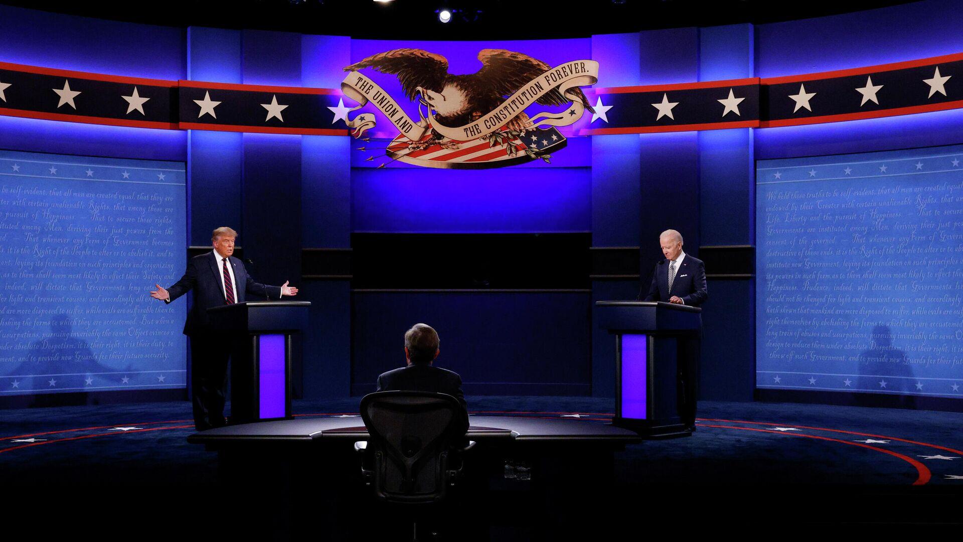 Дебаты Дональда Трампа и Джо Байдена в США - РИА Новости, 1920, 30.09.2020
