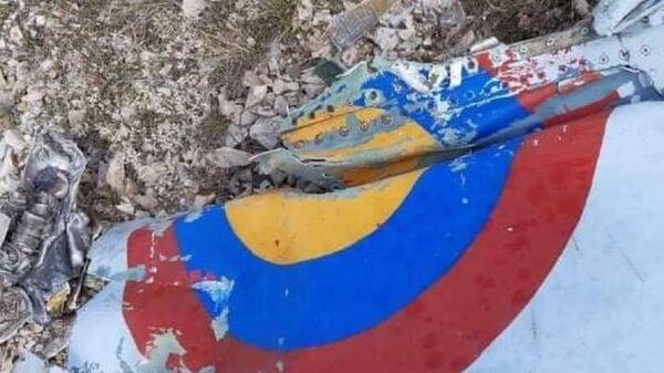 Обломки сбитого армянского Су-25