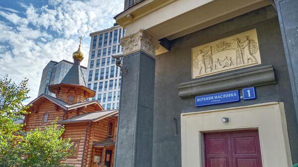 храм в честь преподобного Андрея Рублева на Верхней Масловке в Москве (городок художников)