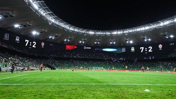 Счет на табло в матче Краснодар - Химки