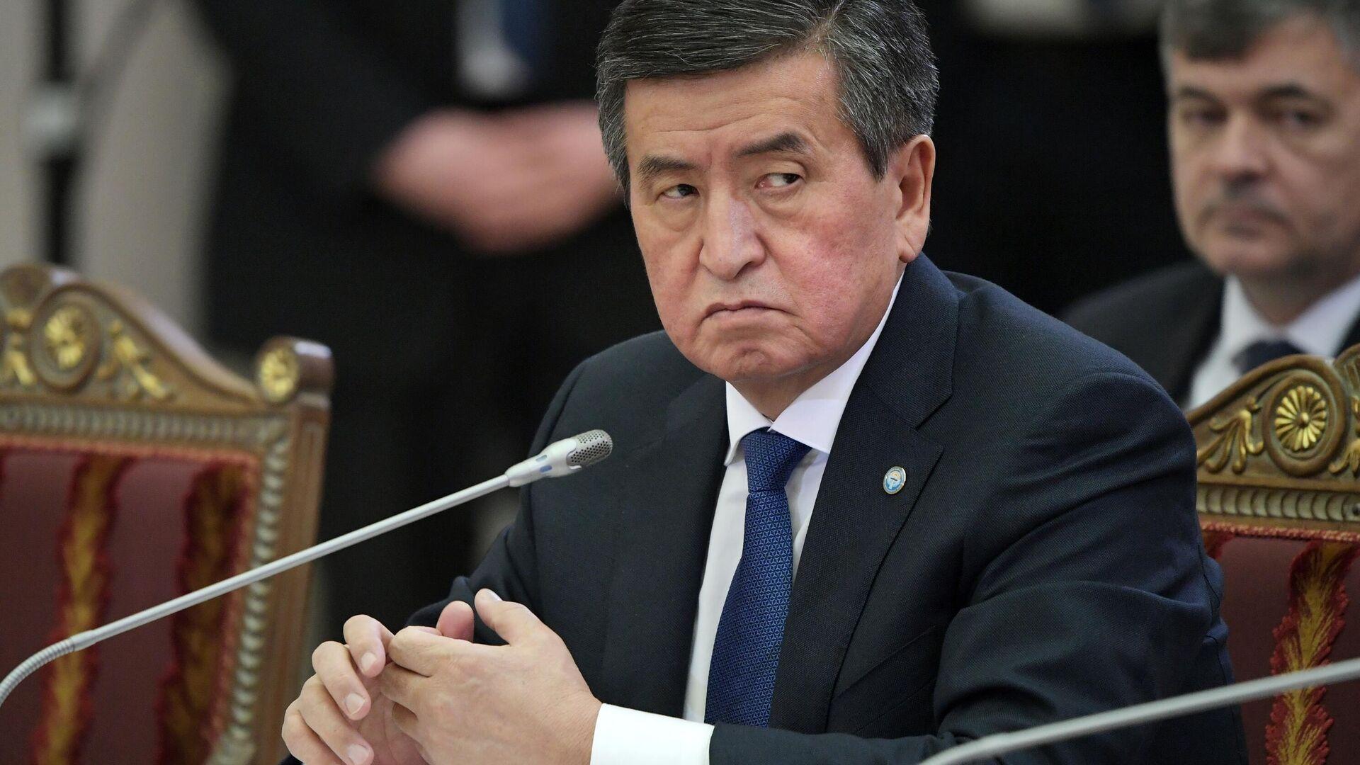 Президент Киргизии Сооронбай Жээнбеков - РИА Новости, 1920, 08.10.2020