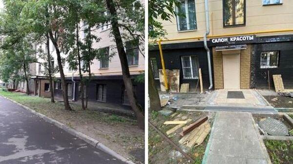 Демонтаж самовольной пристройки к салону красоты в Алексеевском районе Москвы