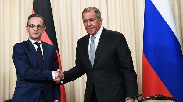 Министр иностранных дел РФ Сергей Лавров и министр иностранных дел Германии Хайко Маас во время встречи в Москве. 21 июль 2019