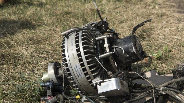 Фрагмент сбитого беспилотника в Степанакерте
