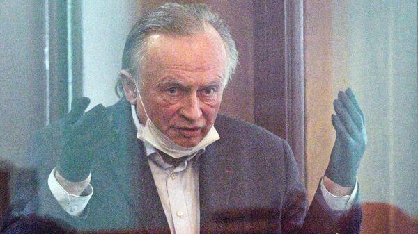 Историк Олег Соколов в зале судебного заседания Октябрьского районного суда Санкт-Петербурга