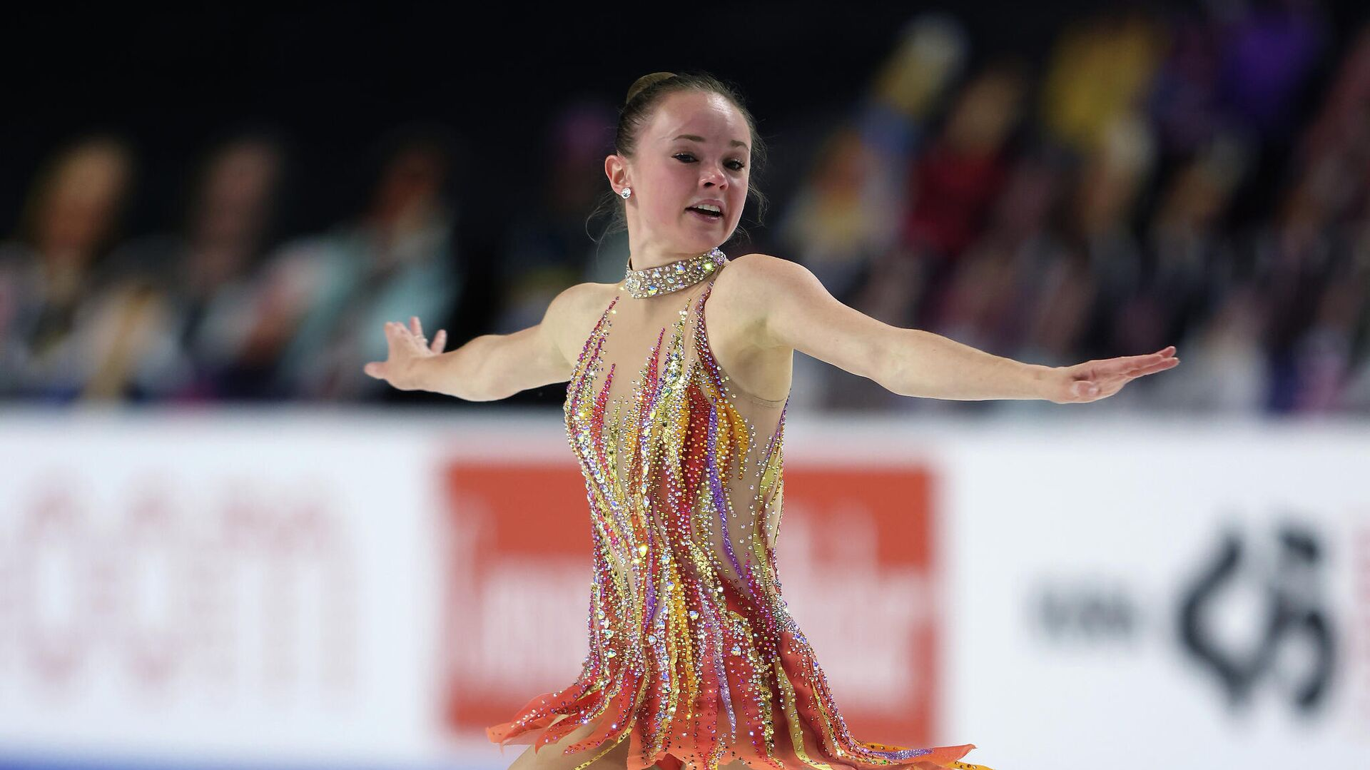 LAS VEGAS, NEVADA - OCTOBER 24: Mariah Bell of the USA competes in the Ladies Free Skating program during the ISU Grand Prix of Figure Skating at the Orleans Arena on October 24, 2020 in Las Vegas, Nevada.   Jamie Squire/Getty Images/AFP - РИА Новости, 1920, 24.10.2020