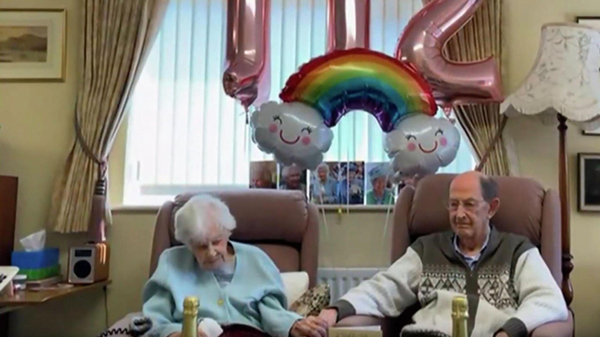 Скриншот видео о самом пожилом челове в Великобритании Джоан Хоккард - РИА Новости, 1920, 25.10.2020