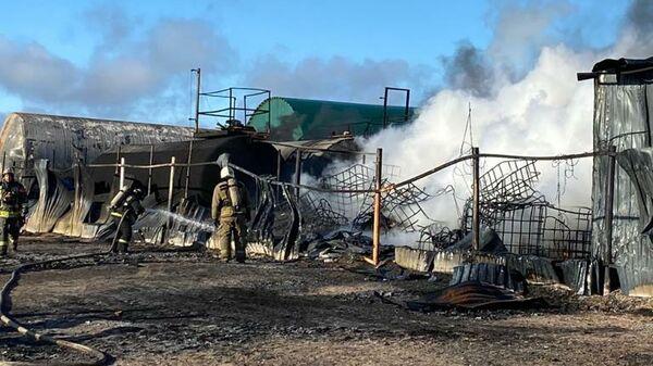 Пожар в Волосовском районе