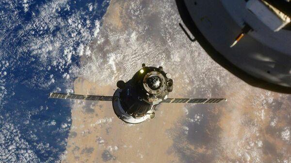 Стыковка корабля Союз МС-17 с Международной космической станцией