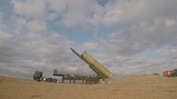 Кадры пуска новой российской ракеты системы ПРО