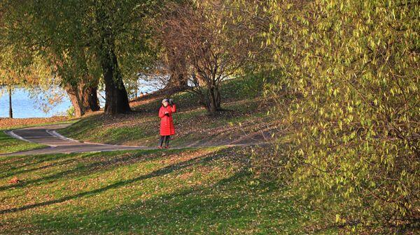 Женщина в парке