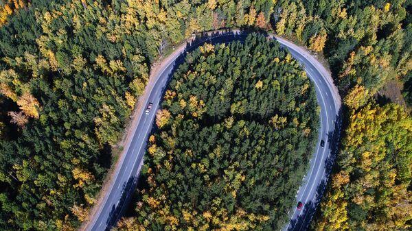 Участок федеральной трассы Р257 Енисей в окрестностях Красноярска