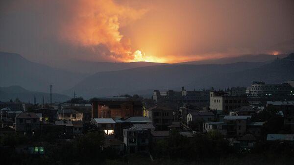 Взрывы на юго-востоке от Степанакерта