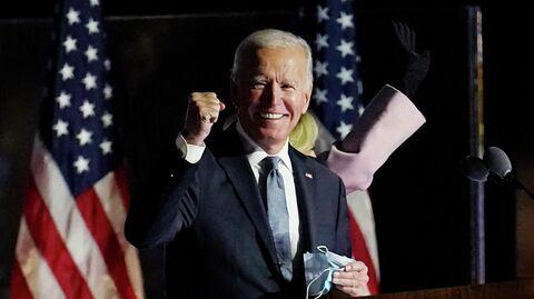 Кандидат в президенты США Джо Байден во время выступления в Уилмингтоне