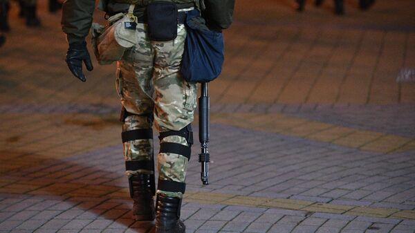 Сотрудник правоохранительных органов в Минске