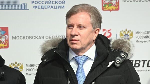 Министр транспорта РФ Виталий Савельев на церемонии запуска движения по самому длинному участку ЦКАД-3