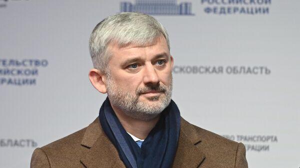 Евгений Дитрих на церемонии запуска движения по самому длинному участку ЦКАД-3