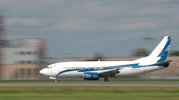 Самолет Boeing 737 авиакомпании SCAT Airlines