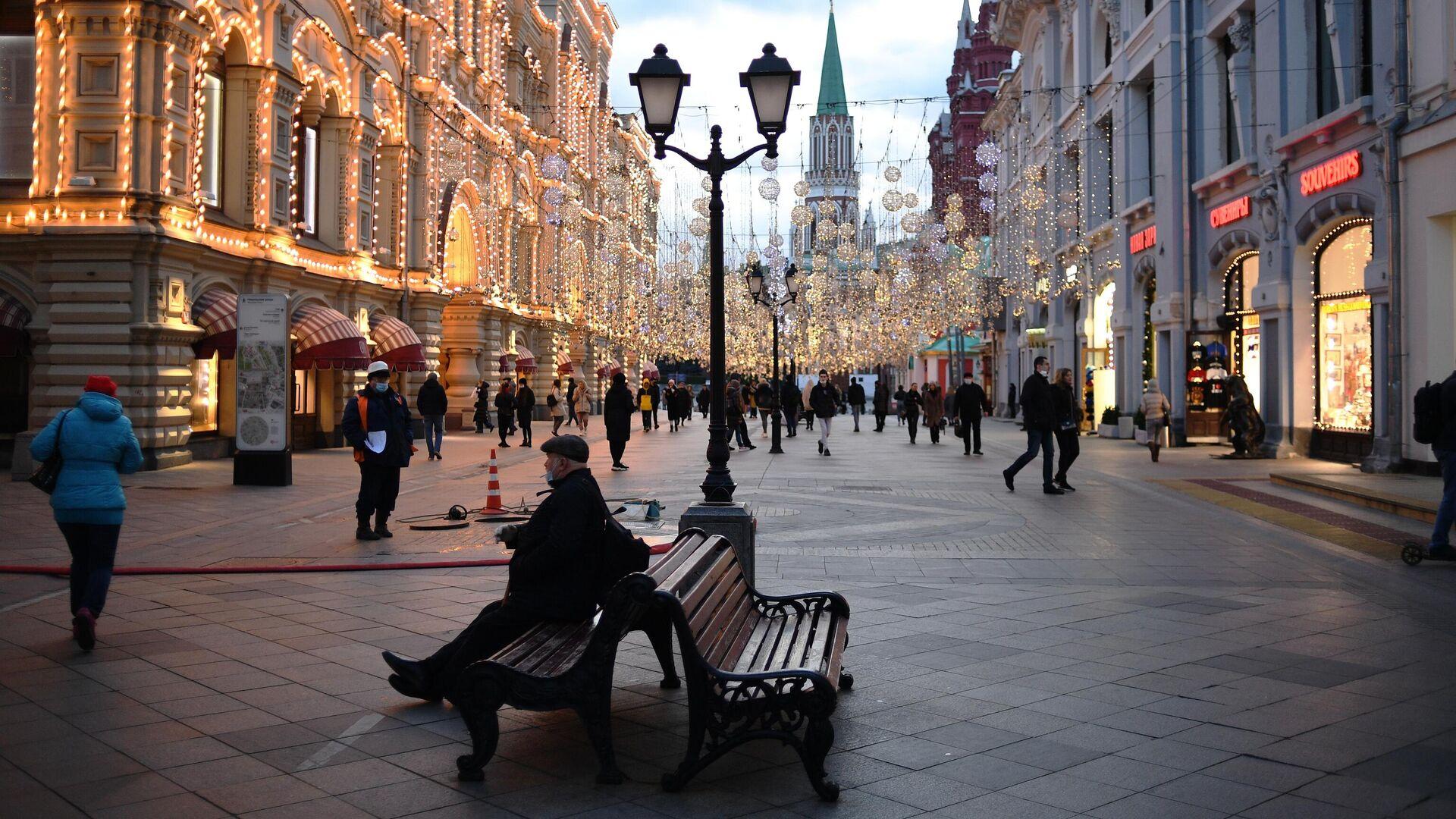 Никольская улица в Москве - РИА Новости, 1920, 28.12.2020