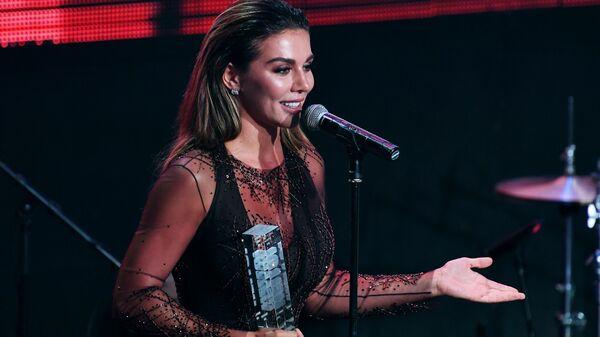 Певица Анна Седокова на церемонии вручения премии Самые стильные в России по версии журнала HELLO! в Москве