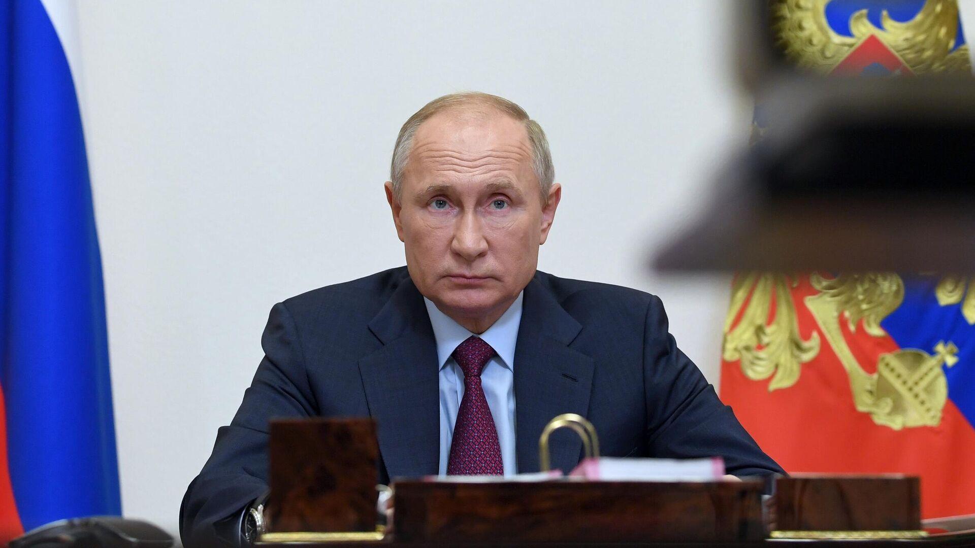 Президент РФ Владимир Путин проводит совещание с членами правительства РФ - РИА Новости, 1920, 26.11.2020