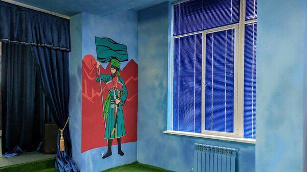 Переоформление детского игрового центра в Курчалое, где на стенах были изображены персонажи американских комиксов