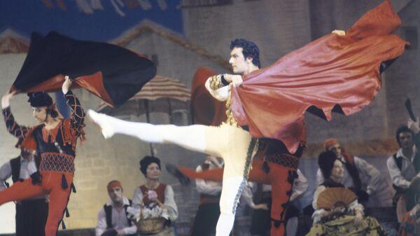 Заслуженный артист РСФСР Ярослав Сех в роли тореадора в балете Минкуса Дон Кихот