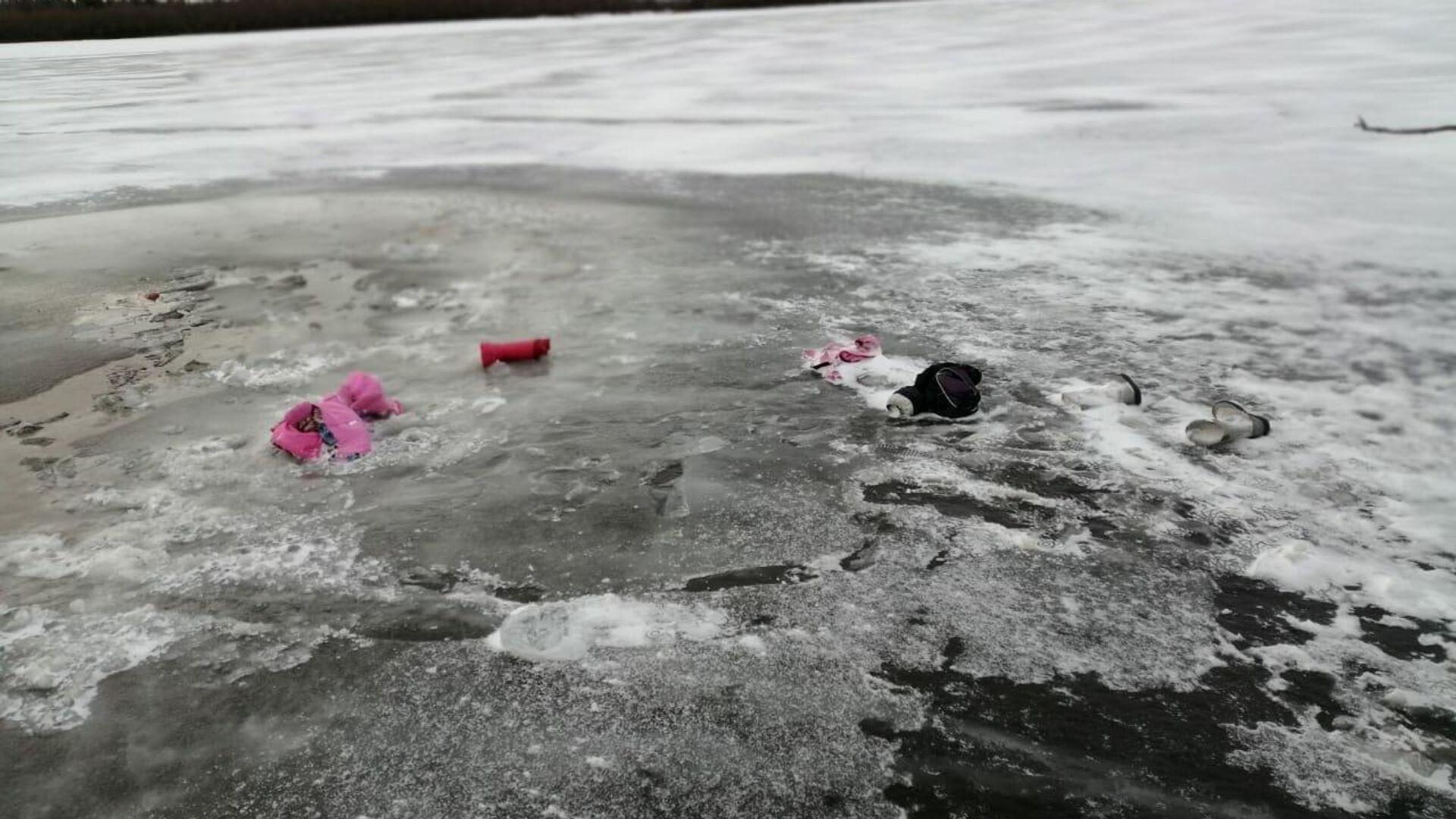 Река Ляпин в Березовском районе ХМАО, где автомобиль ушел под воду - РИА Новости, 1920, 23.11.2020