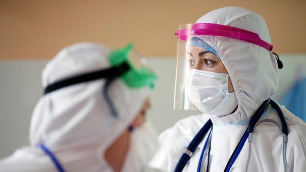 Госпиталь для больных COVID-19 в городе Волжский