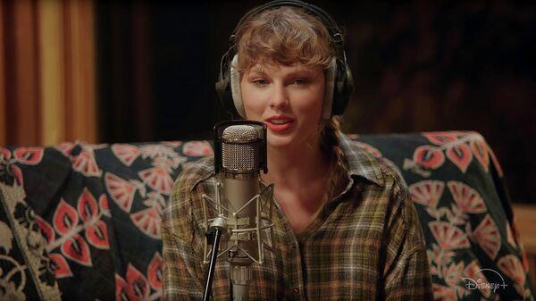 Кадр из трейлера фильма Taylor Swift – folklore: the long pond studio sessions