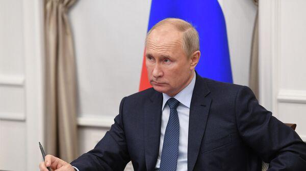 Президент РФ Владимир Путин проводит совещание в Нижегородской области
