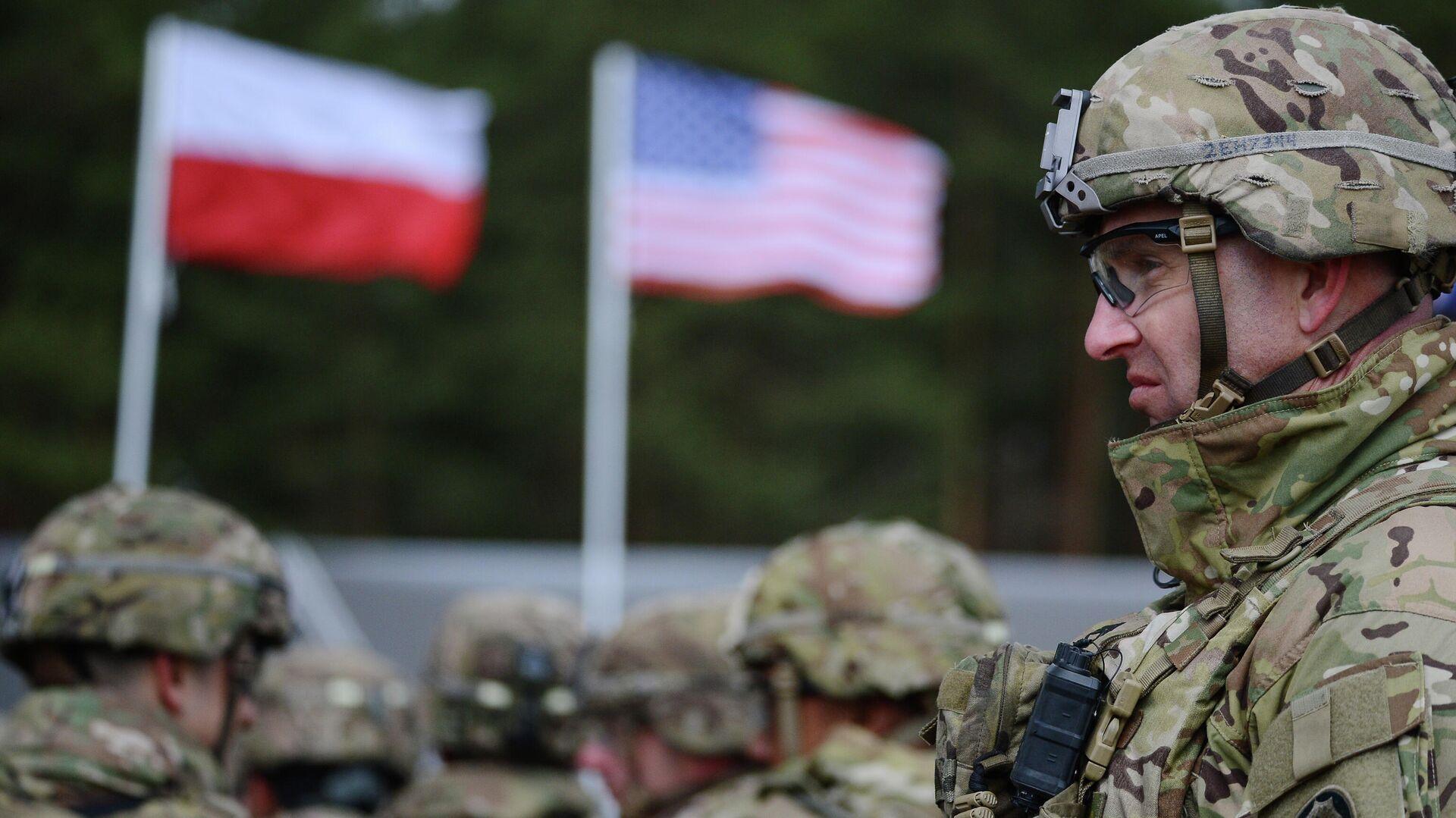 Церемония приветствия многонационального батальона НАТО под руководством США в польском Ожише - РИА Новости, 1920, 06.12.2020