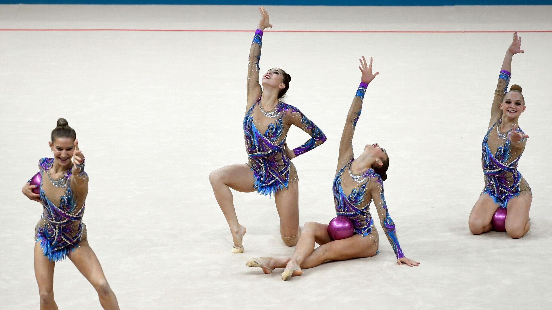 Сборная Израиля по художественной гимнастике - РИА Новости, 1920, 27.11.2020