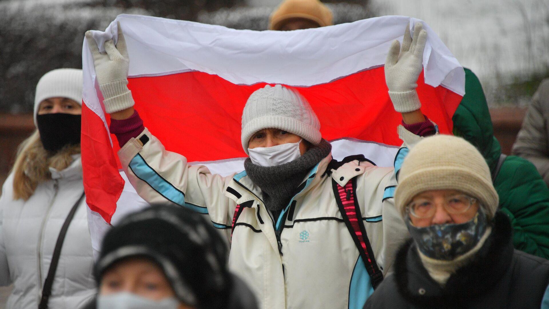 Участники акции протеста пенсионеров Марш мудрости в Минске - РИА Новости, 1920, 13.02.2021