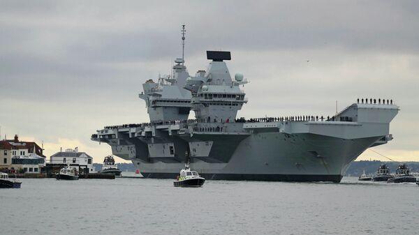 Новейший британский авианосец HMS Prince of Wales