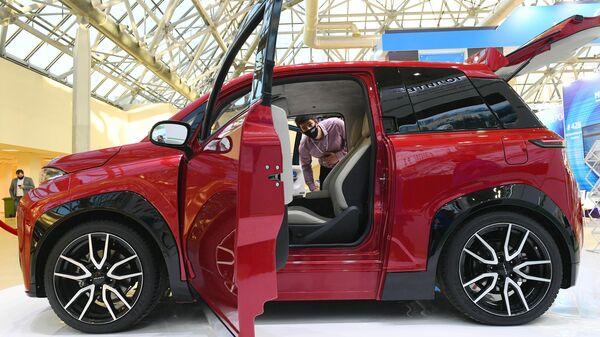 Электромобиль Кама-1, представленный на выставке ВУЗПРОМЭКСПО 2020 в Москве
